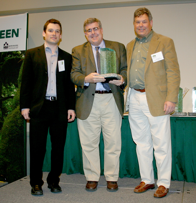 "MBA ""Built Green Pioneer"" award to Joe Coakley - ""Joe's contribution to sustainable housing and environmentally responsible land development will have a positive impact on our region for generations"" - Sam Anderson, Executive Director, Master Builders of King and Snohomish County"